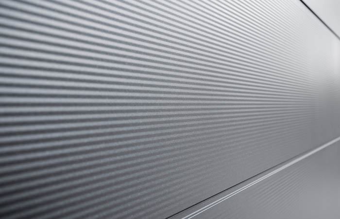 Large panel - Micro lines metallic grey (sim. DB703) - V3000